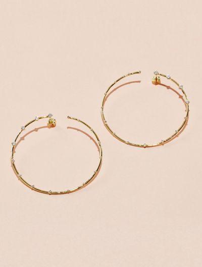 Jamini Earrings - White Zircon