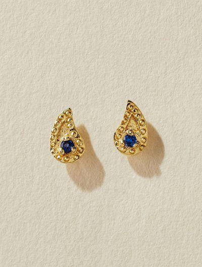 Livna Earrings - Blue Zircon