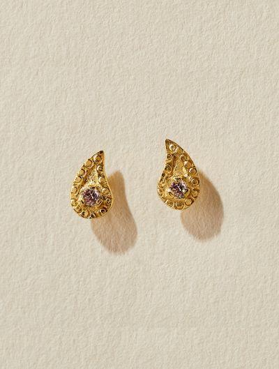 Boucles d'oreilles Livna - Zircons roses