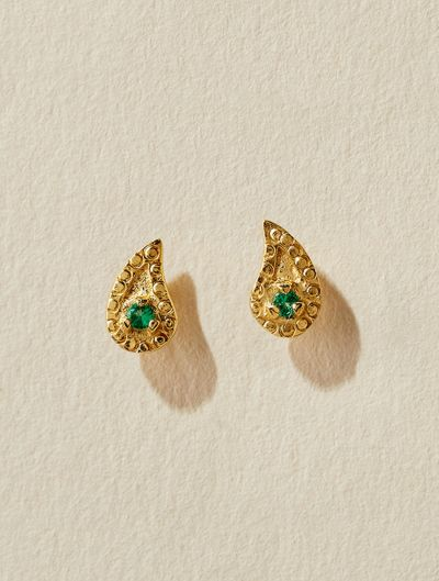 Livna Earrings - Green Zircon