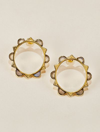 Malka Earrings - Moonstone