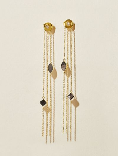 Shayan Earrings - Textured Onyx