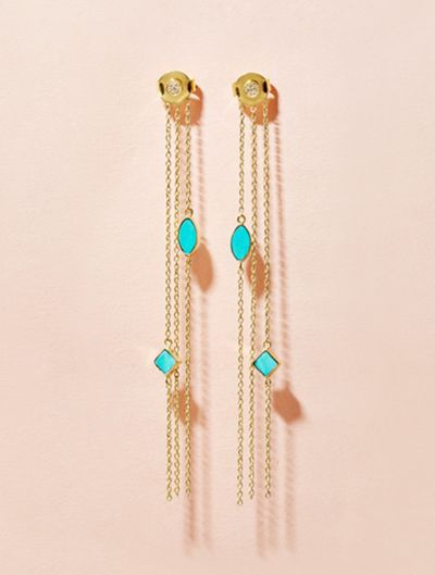 Shayan Earrings - Turquoise