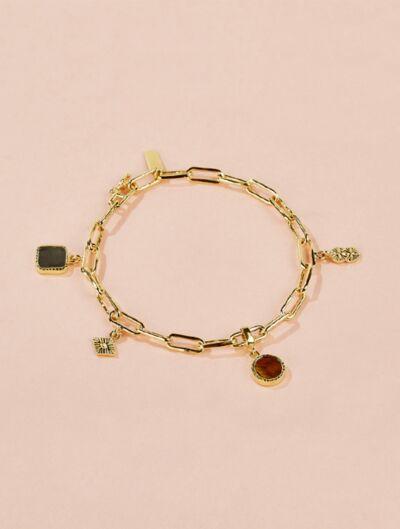 Bracelet Arya - Pyrite et Œil de Tigre