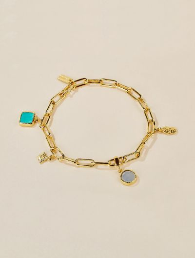 Arya Bracelet - Turquoise and Mother of Pearl