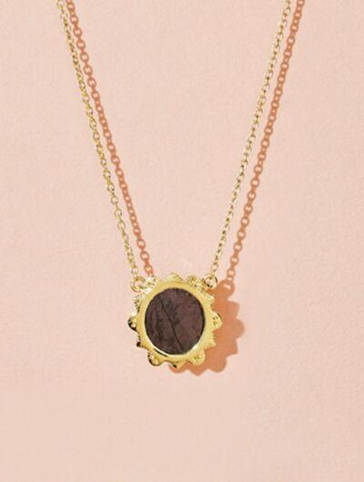 Malka Necklace - Textured Onyx