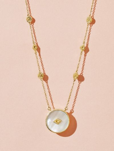 Sanja Long Necklace - Pearl