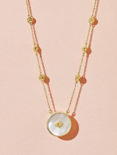 Sanja Long Necklace - Pearl