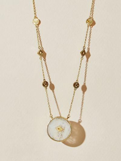 Sanja Long Necklace - Moonstone