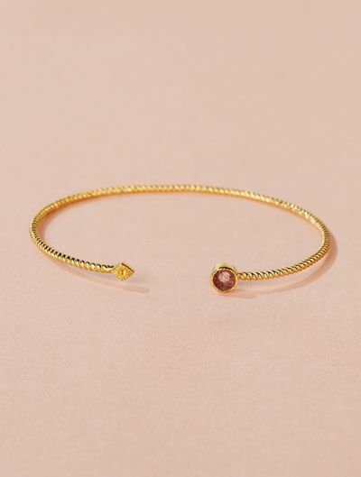 Livy Cuff - Strawberry Quartz