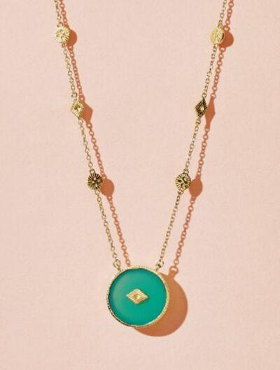 Sanja Long Necklace - Chrysoprase