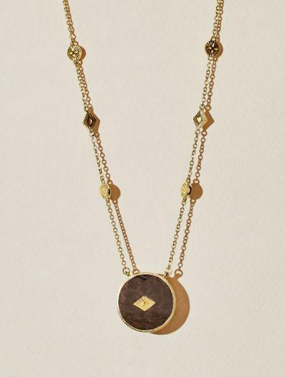 Sanja Long Necklace - Textured Onyx