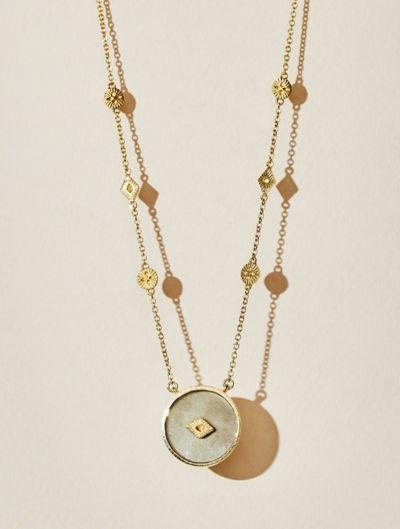 Sanja Long Necklace - Pyrite