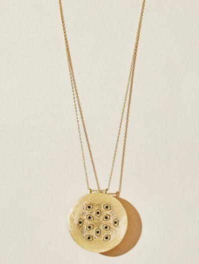 Tara Long Necklace - Black Zircons