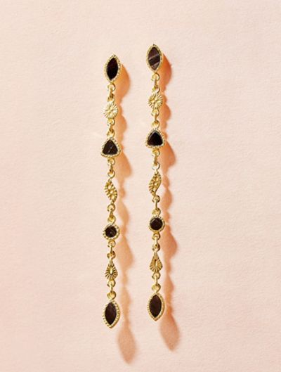 Boucles d'oreilles Macha - Onyx Texturé