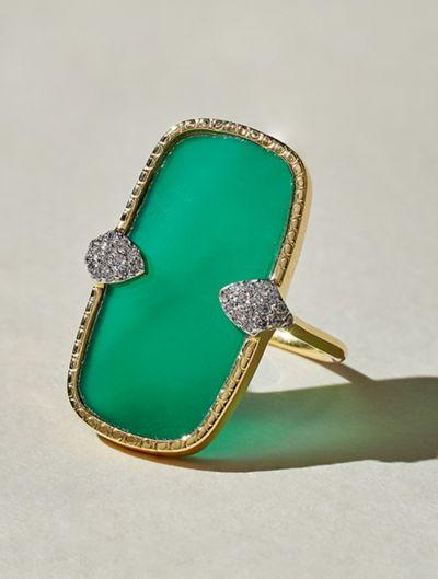 Sangha Ring - Green Onyx