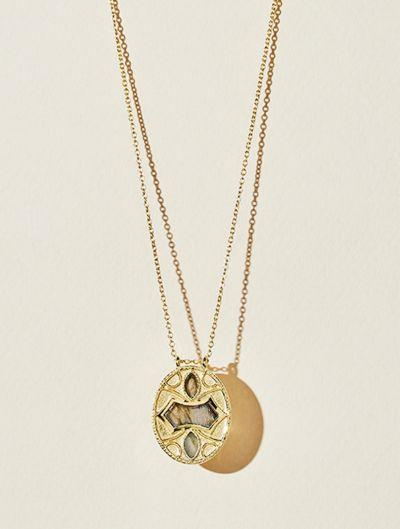Marala Long Necklace - Labradorite