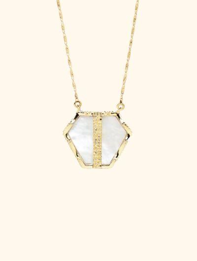 Nemara Long Necklace - Mother of Pearl