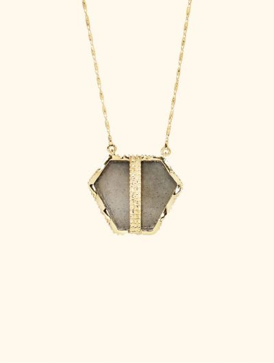 Nemara Long Necklace - Pyrite
