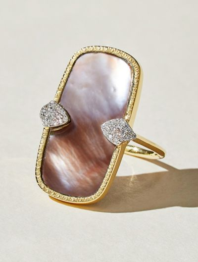 Sangha Ring - Pink Mother of Pearl
