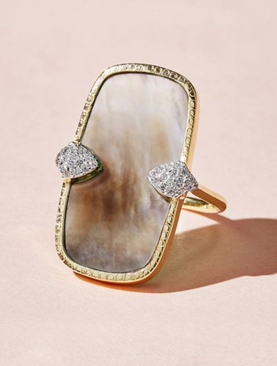 Sangha Ring - Grey Mother of Pearl