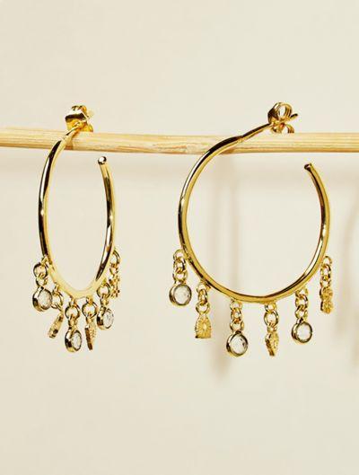 Nati Earrings - White Zircons