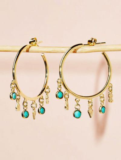 Boucles d'oreilles Nati - Turquoise